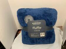 """Berkshire Blanket 60"""" x 70"""" Super Soft Fluffie Throw Blue"""