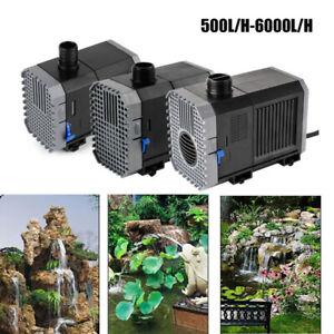 500-6000L/H ECO Teichpumpe Aquarium Tauchpumpe Förderpumpe Wasserpumpe pumpe