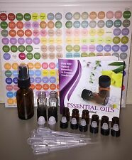 226 Pc Essential Oil Kit-Roll on Vials-Drams-Doterra Labels-Spray Bottle & Guide
