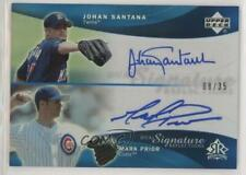 2005 Reflections Dual Signature Blue /35 Johan Santana Mark Prior #JSMP Auto