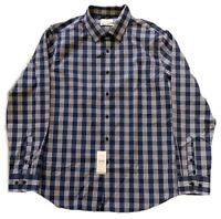 Lucky Brand Men's Size Large Button Front Plaid L/S Shirt Slim Fit NWT