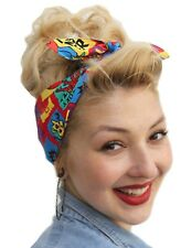 MONSTER PRINT VTG 1950s STYLE PIN UP HEAD SCARF ROCKABILLY