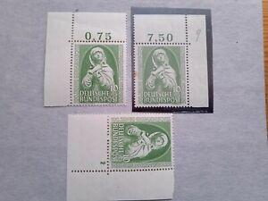 Mi. Nr. 151 ** 3x postfrisch vom Eckrand oben und unten