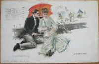 Howard Chandler Christy/Artist-Signed 1909 Postcard: 'A Summer Girl'