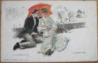 Howard Chandler Christy/Artist-Signed 1909 Postcard: 'A Summer Girl'