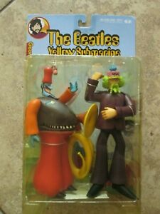 MCFARLANE BEATLES YELLOW SUBMARINE FIGURE GEORGE WITH SNAPPING TURK NEW SEALED