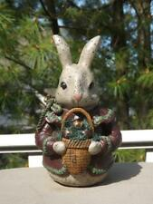 "Deborah Graham Easter Rabbit Bunny Figurine 8"" Tall EXV"