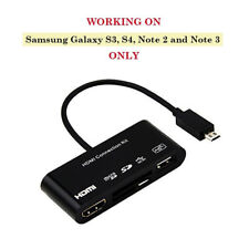 Multi-functional Hdmi Hdtv Connection Kit As USB OTG SD TF Card Reader