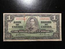 Kanada: 1 Dollar-Banknote, gebraucht aus Umlauf (used), 1937
