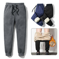 Men Thicken Fleece Thermal Trousers Winter Warm Outdoor Cashmere Pants Joggers