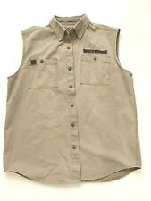 Harley Davidson men's vest Cotton Cream  arm openings Embroidery Large