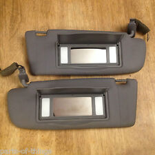 1998-2001 Audi A4 OEM Lighted Mirror Sun Visor Set (grey gray) Clean & Tested!