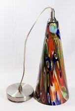 "BEAUTIFUL Picasso Swirl Glass Hanging Lamp chandelier 15"""