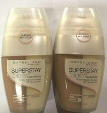 Maybelline Lot Of 2 Superstay Silky Foundation-1 Nude Light 4 & 1 Creamy Light 5