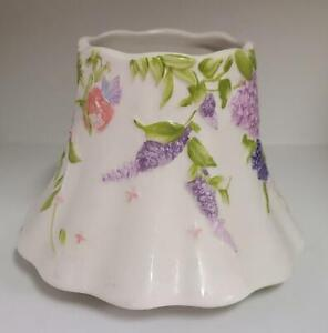 EUC Yankee Candle Floral Jar Candle Shade Topper - Purple Flowers