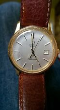 Genuine Leather Strap OMEGA Wristwatches with Swiss Movement