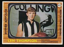 1967 Scanlens Collingwood No. 43 Len Thompson Magpies card ****