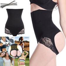 Women Lace Butt Lifter Body Shaper Tummy Control Panty High Waist Steel Boned FT
