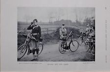 1897 BOER WAR CYCLISTS CORPS ARMED RIDERS ON MANOEUVRES 26TH MIDDLESEX