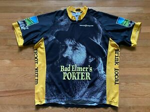 Upland Brewing Bad Elmers Porter IU Indiana Hoosiers Cycling Jersey Mens sz 3XL