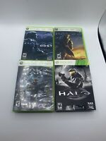Lot Of 4 Xbox 360 Halo Games  TESTED Works Great