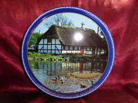 Vintage TIN Danish Harmony Butter Cookies - Thatched Cottage - Food Advertising