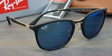 9ddbd6bb7f New Ray Ban RB4299 601S 55 Sunglasses Matte Black+Gold w  Dark Blue