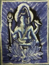 Indian Batik Lord Shiva Hindu God Wall Hanging Approx. Size 82 x 112 cm
