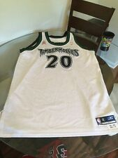Gary Trent 01-02 Team Issued Pro-Cut Game Worn Jersey Timberwolves 9/11 Patch