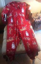 XL Red Nick & Nora One piece Pajama Ski Monkey Snow Xmas Fleece 1x Man Woman EUC