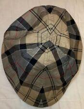 Barbour Flat Cap Dress Tartan 100% Cotton Size Small/Size 7