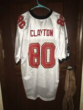 Mens Reebok Size XL MARK CLAYTON Tampa Bay Buccaneers NFL Football Jersey  White f6b2f618c