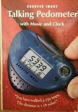Sharper Image Talking Pedometer w/ Music and Clock (Nib)