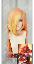 League of Legends LOL Miss Fortune Long Anime Costume Cosplay Wig+Wig Cap