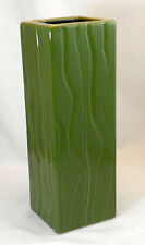 Green Glazed Ceramic Flower Vase Clay Home Decor Vase Pot with Pattern 13032-2