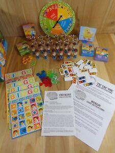 GO DIEGO GO Wooden Toy Box w Multiple Games Bingo Dominoes Checkers Rummy