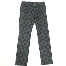Kelly Cole Gray Skull Print Pants Womens Size 28 100% Cotton Made in the USA