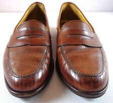 Bragano Cole Haan Mens Penny Loafers 8.5 M Brown Leather Made in Italy Shoes