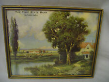 "R. Atkinson Fox Cows, Farm, Cottage, Butler, Okla. 10""x8"" Calendar Print 1920s"