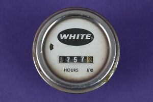 Vintage White hour gauge SG-70  White hour meter
