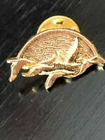 Vintage Collectible Geese or Ducks Flying Metal Pinback Lapel Pin Hat Pin