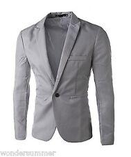 SALE Mens Casual Slim Fit Fashion Suits Blazer Business Coats Jacket Long Sleeve