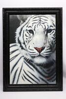 Gemälde Weißer Tiger Signiert Kaiser