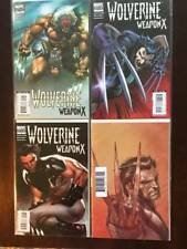 Wolverine: Weapon X Comic Book Lot, 4 Issues, Marvel, Variants
