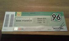 Ticket Hannover 96 - Eintracht Frankfurt , HSV  , Sammelkarte, Ultras, SGE