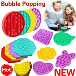Simple Dimple Push Pop Bubble It Kids Toy Silent Sensory Fidget Autism Classroom