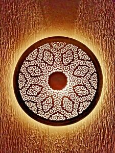 Moroccan wall light disc oriental wall lamp Brass silvered night light lampshade