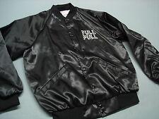 Vintage 70'S TRUCK & TRACTOR PULL Black Satin Jacket  MINT ! large