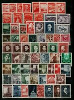 Austria 1945/9 collection of complete sets and singles to include '45 Arm Stamps