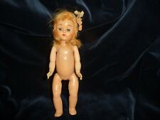 "#10/6/B vtg Hard Plastic Doll Andrea Stashin *"" Straight leg Walking Doll"